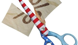 Cutting Taxes Illustration by Greg Groesch/The Washington Times
