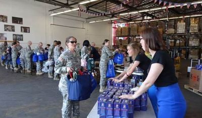 "USO offers ""care packages"" from Giant Food. Image courtesy of Giant Food."
