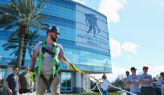 Wounded Warrior Project hosted Team Rubicon disaster training at its Jacksonville, Florida, headquarters. Veterans and volunteers learned to respond to disasters. Photo courtesy of Wounded Warrior Project.
