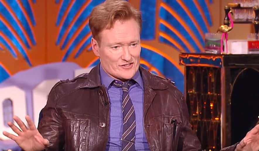 """Comedian Conan O'Brien was asked on Tuesday if CBS """"Late Show"""" host Stephen Colbert has gone too far with his jokes aimed at President Donald Trump. (YouTube, """"Watch What Happens Live with Andy Cohen"""" screenshot)"""