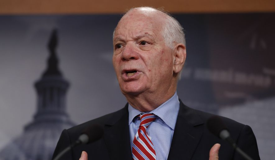 Sen. Ben Cardin, D-Md., speaks during a news conference on Capitol Hill in Washington, in this Wednesday, May 24, 2017, file photo. (AP Photo/Carolyn Kaster) ** FILE **