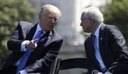 In this May 15, 2017, file photo, President Donald Trump talks with Attorney General Jeff Sessions,at the 36th Annual National Peace Officers' memorial service on Capitol Hill in Washington. (AP Photo/Evan Vucci, file)