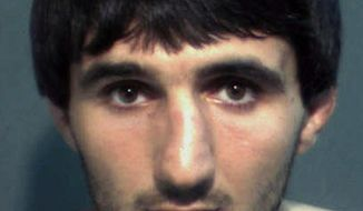 FILE - This undated photo shows Ibragim Todashev. The parents of a Chechen man who was fatally shot while being questioned in Florida about a Boston Marathon bombing suspect in 2013 are suing two FBI agents and two Massachusetts state troopers for wrongful death. The lawsuit was filed Monday, May 22, 2017, in federal court in Orlando by the estate of Ibragim Todashev and Todashev's parents. (Orange County Corrections Department via AP, File)