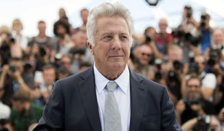In this May 21, 2017 file photo, Dustin Hoffman poses for photographers during the photo call for the film The Meyerowitz Stories at the 70th international film festival, Cannes, southern France. (Photo by Arthur Mola/Invision/AP, File)
