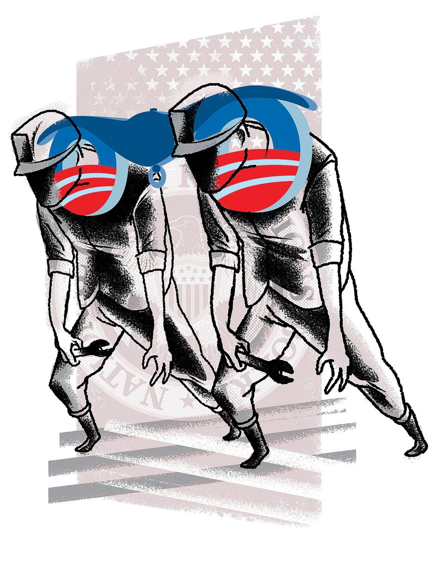 Illustration on Obama's Labor Board legacy by Linas Garsys/The Washington Times