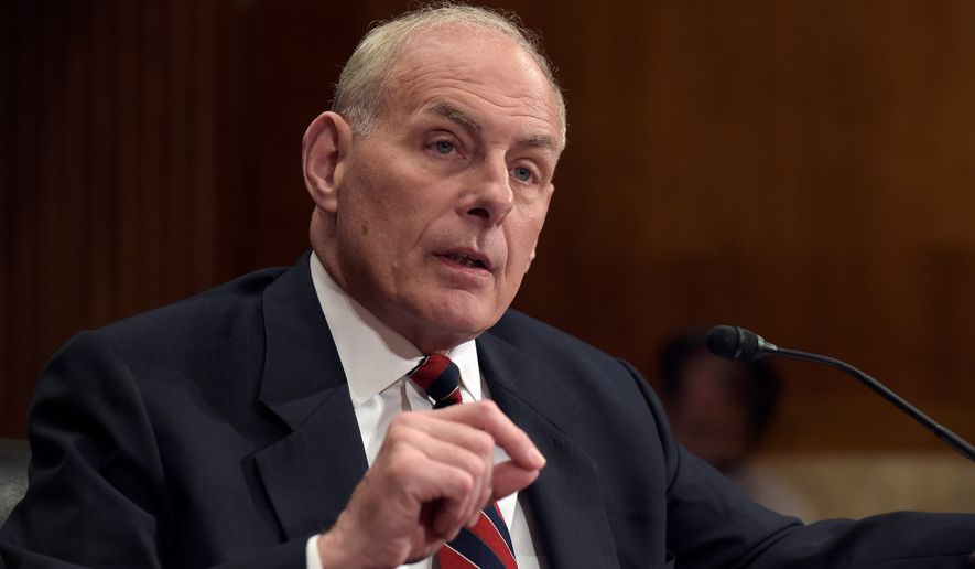 Homeland Security Secretary John Kelly (Associated Press) **FILE**
