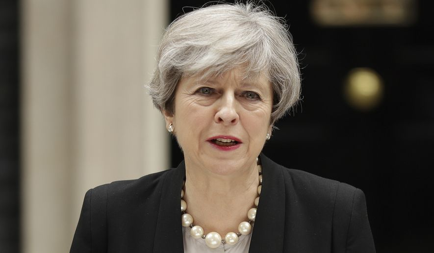 British Prime Minister Theresa May bears much of the blame for her slipping poll numbers, pundits say. (Associated Press/File)