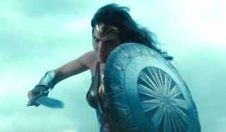 "Gal Godot stars in the Warner Bros. movie ""Wonder Woman,"" which opens in U.S. theaters June 2, 2017. (YouTube, Warner Bros.) ** FILE **"