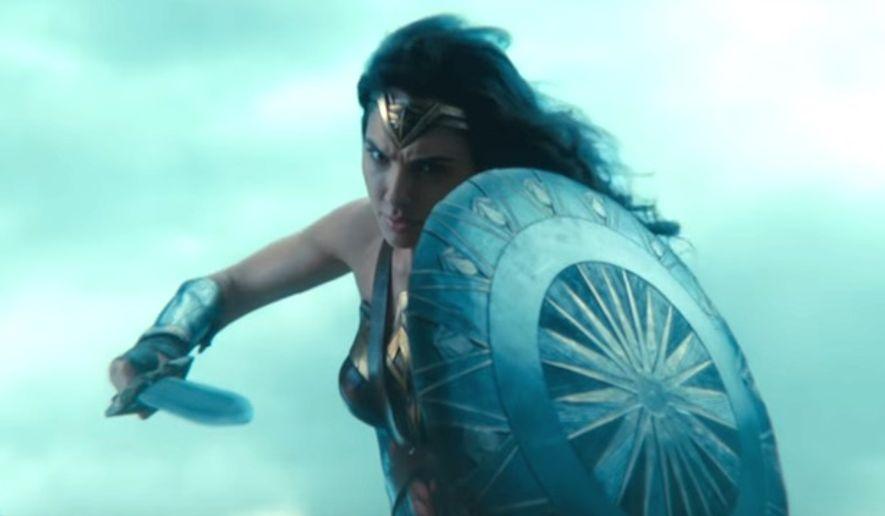 "Gal Godot stars in the Warner Bros. movie ""Wonder Woman,"" which opens in U.S. theaters June 2, 2017. (YouTube, Warner Bros.) ** FILE **"