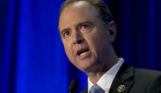 U.S. Rep. Adam Schiff, the ranking Democrat on the House Intelligence Committee, addresses the California Democratic Party convention, Saturday, May 20, 2017, in Sacramento, Calif. (AP Photo/Rich Pedroncelli) ** FILE **