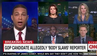 "CNN host Don Lemon scolded a guest Wednesday night for refusing to accept his narrative that President Trump's anti-media rhetoric is responsible for Greg Gianforte's alleged ""body slam"" of a Guardian reporter. (CNN)"