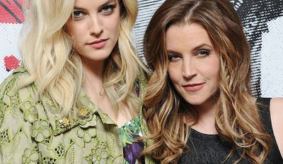 Riley Keough (the eldest grandchild of Elvis and Priscilla Presley) and her mom Lisa Marie Presley