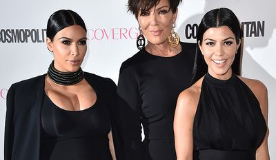 Reality TV stars Kim Kardashian, Kris Jenner and Kourtney Kardashian