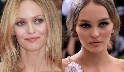French singer and actress Vanessa Paradis and her daughter with Johnny Depp, Lily-Rose