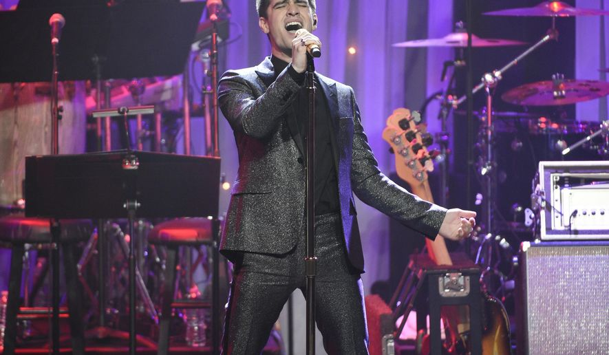 "FILE - In this Feb. 11, 2017 file photo, Brendon Urie performs at the Clive Davis and The Recording Academy Pre-Grammy Gala in Beverly Hills, Calif. Urie takes over the role of Charlie Price for a 10-week run in the popular musical ""Kinky Boots"" about a staid British shoe factory on the brink of ruin that retrofits itself into a maker of footwear for drag queens. Urie will appear in the show through Aug. 6. (Photo by Chris Pizzello/Invision/AP, File)"
