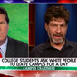 "Bret Weinstein, Evergreen State College professor, shown here from his May 26, 2017 appearance on Fox News Channel's ""Tucker Carlson Tonight"" program. Mr. Weinstein has been forced to hold his classes off campus due to threats of violence from militant students at the Olympia, Washington, institution."