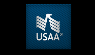 USAA logo, via the company's Facebook page.