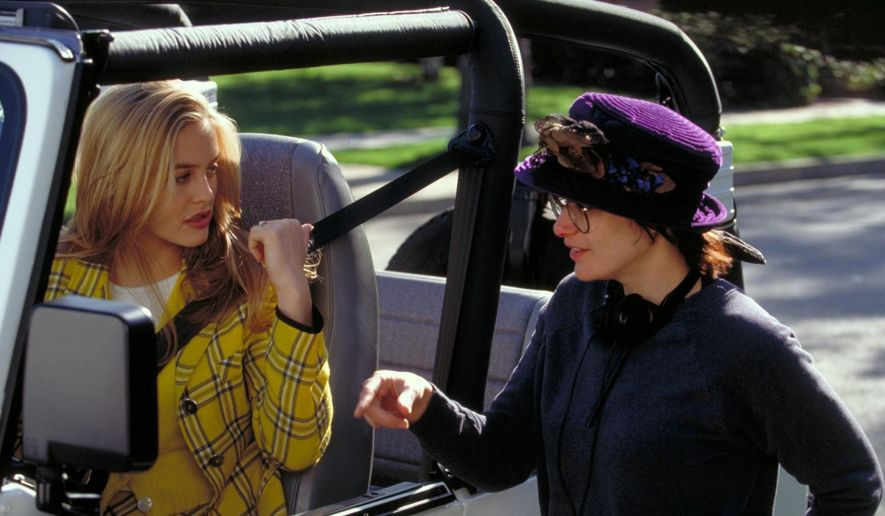 "Alicia Silverstone (left) on the set of ""Clueless"" with writer/director Amy Heckerling.  (Flavorwire)"