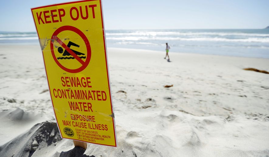 "Sewage seeping up from Mexican waters has sickened military personnel training in Southern California, and has made ""no-go"" zones that Border Patrol agents are unable to monitor. (Associated Press)"