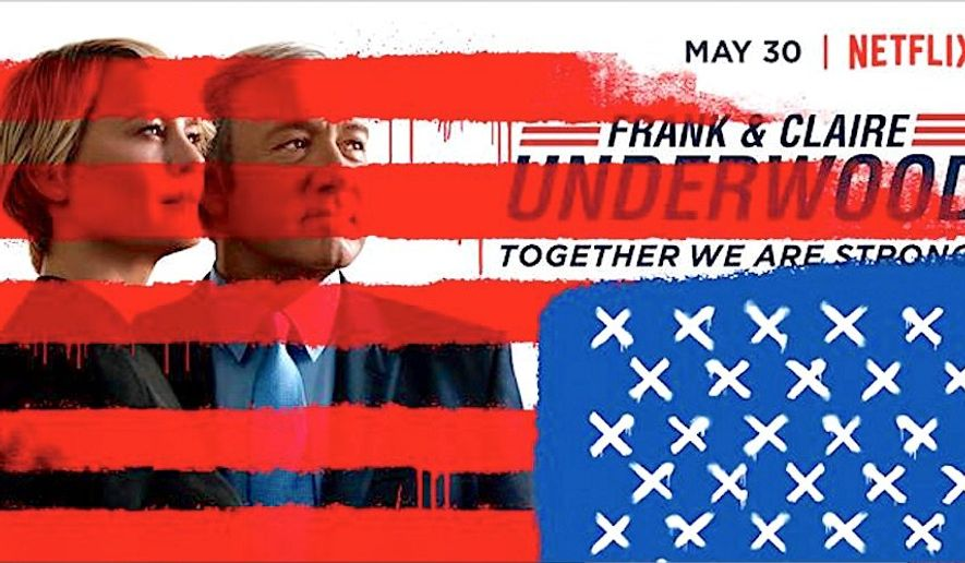 """""""House of Cards"""" is back for its fifth season on Netflix, its plot now unfolding in """"the age of Donald Trump,"""" according to TV critics. (Netflix)"""