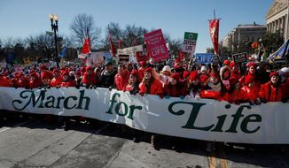 The annual March for Life in Washington, D.C. (Associated Press, File)