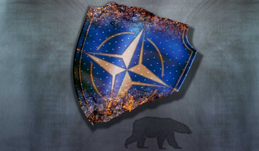 NATO Irrelevance and Russia Illustration by Greg Groesch/The Washington Times