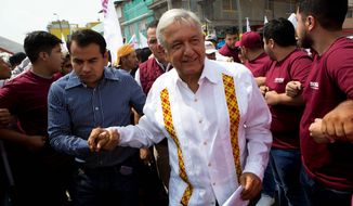 Leftist Mexican politician Andres Manuel Lopez Obrador, a critic of President Trump, is running for office in the State of Mexico. (Associated Press)