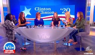 "The hosts of ABC's ""The View"" encourage Chelsea Clinton to run for office during a May 31, 2017, broadcast. (""The View"" screenshot)"