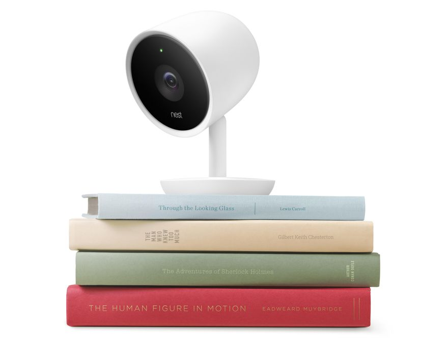 This photo provided by Nest Labs shows the Nest Cam IQ. (Nest Labs via AP)