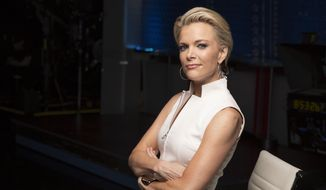 "In this May 5, 2016 file photo, Megyn Kelly poses for a portrait in New York. Kelly's debut on NBC News this Sunday is a real-life cliffhanger involving Russian President Vladimir Putin. The former Fox News Channel personality is in Russia and going down to the wire to land a Putin interview for the first episode of NBC's ""Sunday Night with Megyn Kelly.""  (Photo by Victoria Will/Invision/AP, File)"