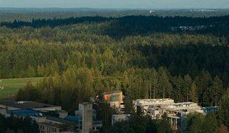 Evergreen State College's campus in Olympia, Washington (Evergreen State College via Twitter)