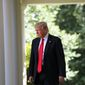 President Donald Trump arrives in the Rose Garden of the White House in Washington, Thursday, June 1, 2017, to speak about the US role in the Paris climate change accord. (AP Photo/Andrew Harnik)