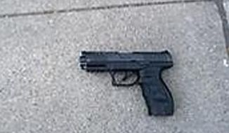 In this undated photo released by the Los Angeles County Sheriff's Department shows a what appears to be a BB gun that officials say Darius Smith, 15, used during the robbery of an off-duty federal law enforcement officer. Surveillance video corroborates the officer's account that he was being robbed when he killed Smith and wounded another teen last week, authorities said Thursday, June 1, 2017. (Los Angeles County Sheriff's Department via AP)
