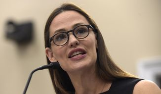 """FILE - In this March 16, 2017, file photo, actress Jennifer Garner, a Trustee for Save the Children, testifies on Capitol Hill in Washington. Garner wrote on Facebook May 31, 2017, that she did not pose for the cover of the current issue of People magazine or """"participate in or authorize"""" the accompanying article. (AP Photo/Susan Walsh, File)"""
