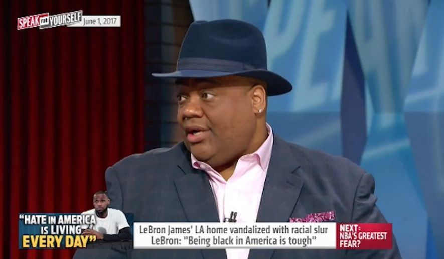 Sports journalist Jason Whitlock said Thursday that LeBron James made a mountain out of a molehill after the front gate to his Brentwood, California, home was spray-painted with a racial slur. (Fox Sports)