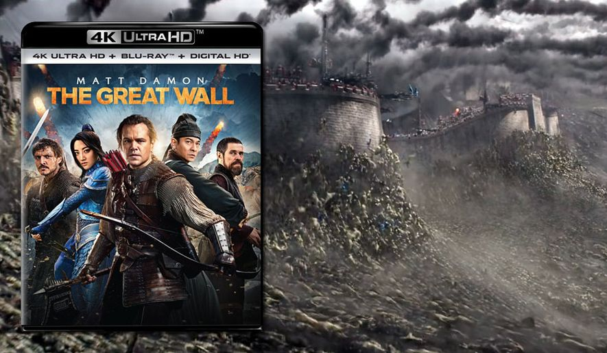 "Matt Damon and a whole bunch of ferocious creatures star in in ""The Great Wall,"" now available on 4K Ultra HD from Universal Studios Home Entertainment."