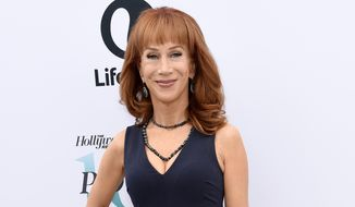 In this Dec. 7, 2016, file photo, comedian Kathy Griffin poses at The Hollywood Reporter's 25th Annual Women in Entertainment Breakfast in Los Angeles. (Photo by Chris Pizzello/Invision/AP, File)