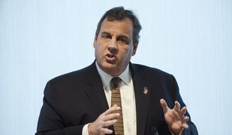In this May 25, 2017, file photo, New Jersey Gov. Chris Christie speaks during Caron Treatment Center's Executive Luncheon on the Opioid Crisis at the headquarters of Independence Blue Cross in Philadelphia. (AP Photo/Matt Rourke, File)