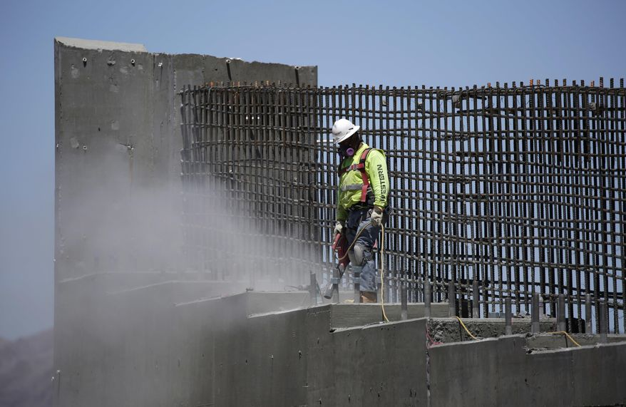 """""""We're going to have tremendous Democrat support on infrastructure,"""" President Trump said, but Democrats said Republicans blew the $1 trillion needed to rebuild America's crumbling roads, bridges and rails on their tax cut bill. (Associated Press/File)"""
