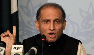 Pakistani Ambassador Aizaz Ahmad Chaudhry said his country will have plenty of economic opportunity in coming years that could be at risk from violence in neighboring Afghanistan. (Associated Press/File)