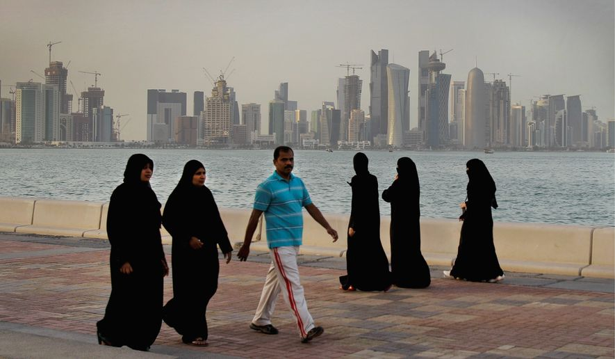 Life proceeded as normal in Doha, Qatar, on Monday even as Saudi Arabia and three other Arab countries severed ties, accusing the nation of supporting terrorist groups. (Associated Press)
