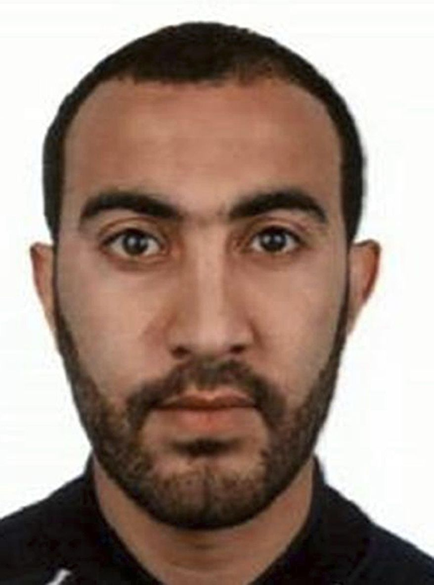 This undated handout photo provided by the Metropolitan Police shows Rachid Redouane. Police have named two of the London Bridge attack suspects as Khuram Shazad Butt and Rachid Redouane. (Metropolitan Police via AP)