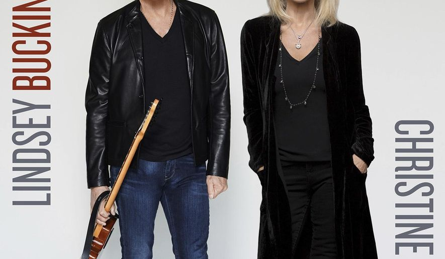 This cover image released by Atlantic Records shows a self-titled album by Lindsey Buckingham and Christine McVie. (Atlantic Records via AP)