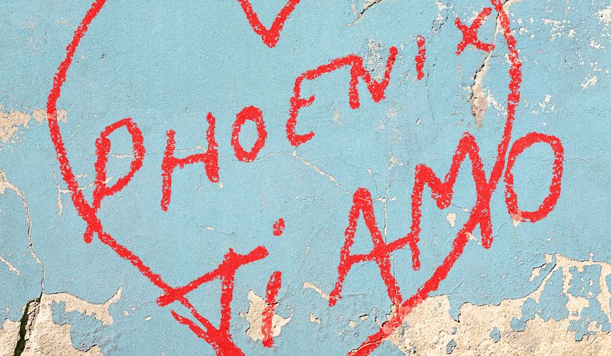 """This cover image released by Loyaute/Glassnote Records shows """"Ti Amo,"""" the latest release by Phoenix. (Loyaute/Glassnote Records via AP)"""