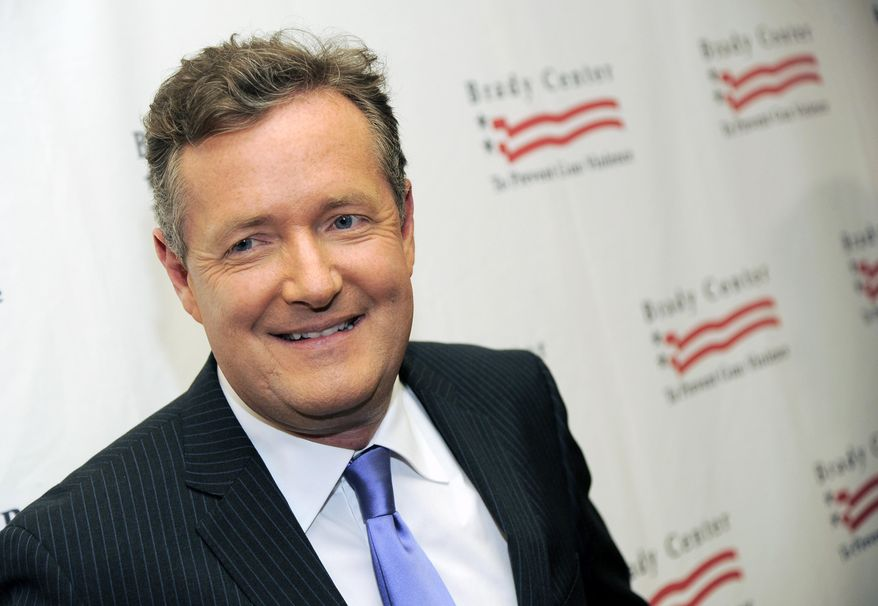 Piers Morgan appears as the Brady Campaign to Prevent Gun Violence Los Angeles Gala in Beverly Hills, California, May 7, 2013. (Photo by Chris Pizzello/Invision/AP) ** FILE **
