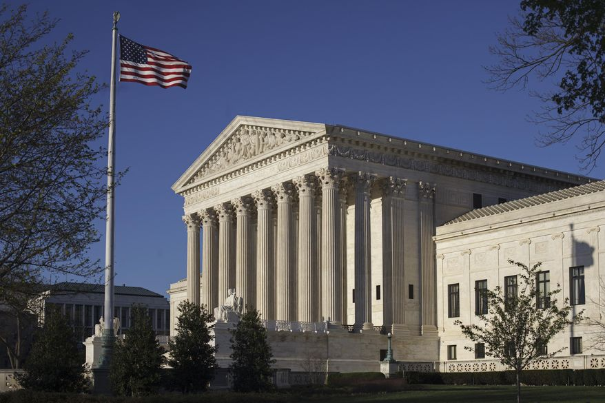 In this photo taken on Tuesday, April 4, 2017, the Supreme Court Building is seen in Washington.  (AP Photo/J. Scott Applewhite) **FILE**