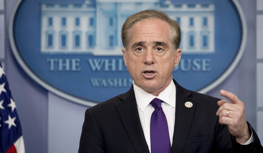 Veterans Affairs Secretary David Shulkin speaks at the daily press briefing at the White House in Washington, Monday, June 5, 2017.  Shulkin said Monday the department will be overhauling its electronic health records, adopting a commercial product used by the Pentagon that he hopes will improve care for veterans and reduce wait times for medical appointments.  (AP Photo/Andrew Harnik)