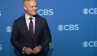 """FILE - In this May 15, 2013, file photo, """"CBS Evening News"""" anchor Scott Pelley attends the CBS Upfront in New York. The Trump administration has been a boon for the cable news networks each night yet curiously not for the broadcast evening news programs, where a viewership slump contributed to  Pelley losing his job last week as anchor of the """"CBS Evening News."""" (Photo by Charles Sykes/Invision/AP, File)"""