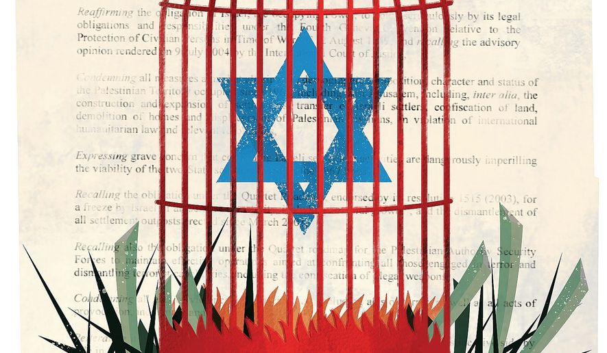Illustration on Israel and the Six-Day War by Linas Garsys/The Washington Times