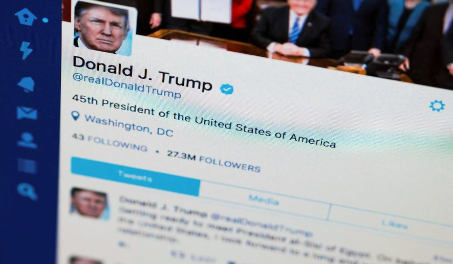 President Trump's tweeter feed is his way of circumventing the mainstream media and speaking directly to the American people, his staunch supporters argue. (Associated Press)